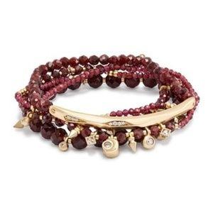 $95 KENDRA SCOTT Supak Red Garnet Bracelet Set NWT